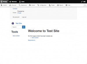 Drupal Bootstrap theme finalized.