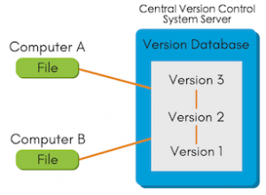 Example of Central Version Control system.