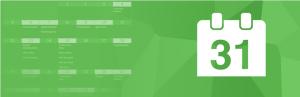 Simple Calendar logo on green background.