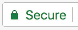 Address bar with green padlock.