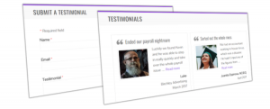 Testimonials plugin banner.