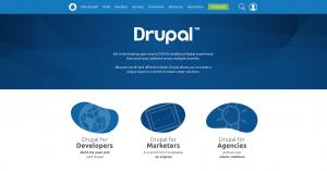 Drupal homepage.