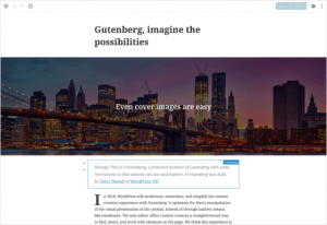 Screenshot of Gutenberg demo.