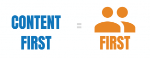 content first equals users first.