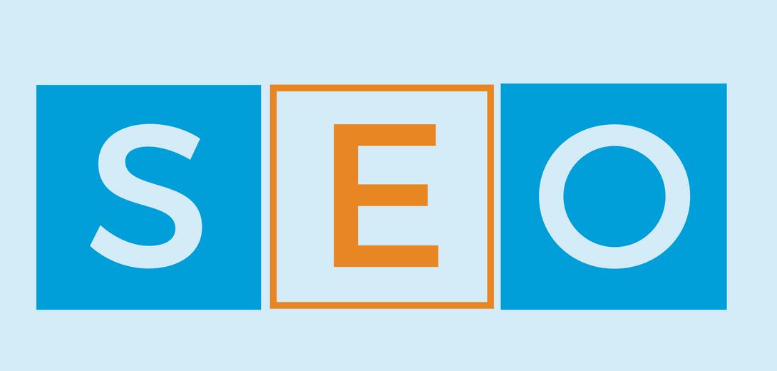 SEO block letters.