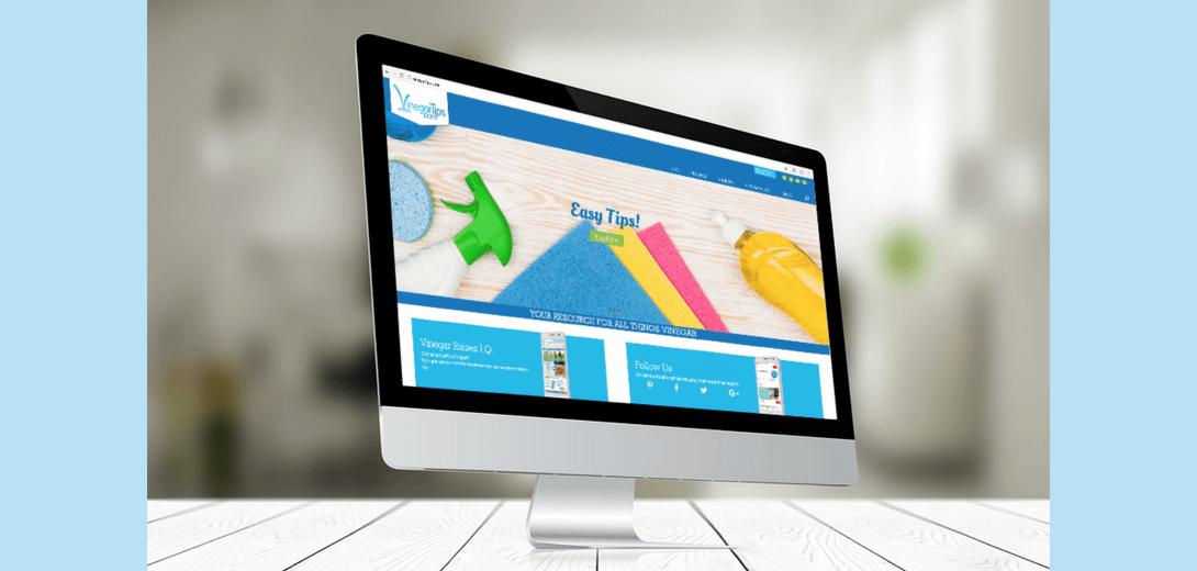 Desktop with Vinegar Tips homepage.