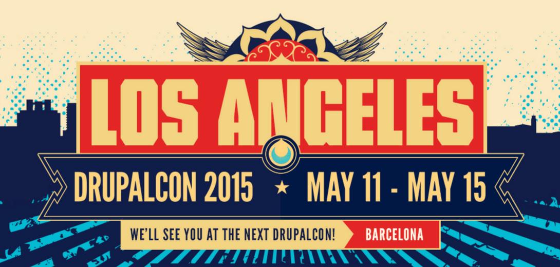 DrupalCon Los Angeles banner.