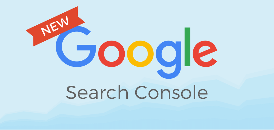 """Google Search Console logo with red banner that says """"new."""""""