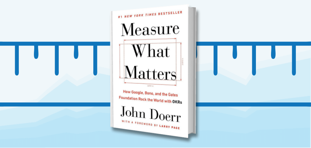 Measure What Matters book cover against ruler and line graph background.